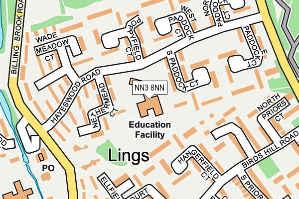 NN3 8NN map - OS OpenMap – Local (Ordnance Survey)