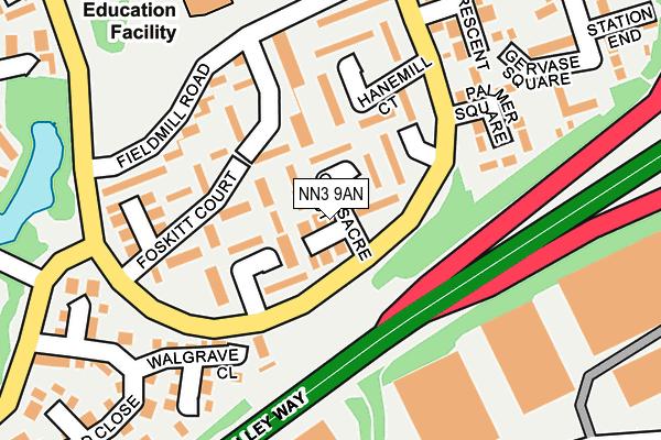 NN3 9AN map - OS OpenMap – Local (Ordnance Survey)