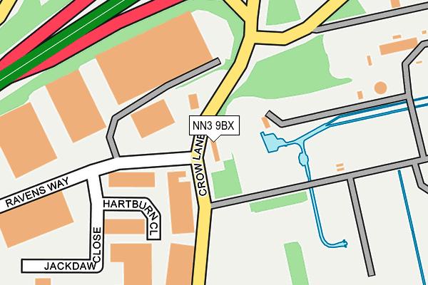 NN3 9BX map - OS OpenMap – Local (Ordnance Survey)