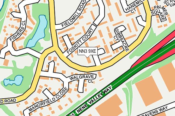 NN3 9XE map - OS OpenMap – Local (Ordnance Survey)