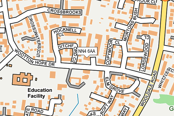NN4 6AA map - OS OpenMap – Local (Ordnance Survey)