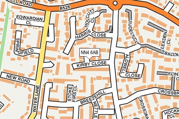 NN4 6AB map - OS OpenMap – Local (Ordnance Survey)