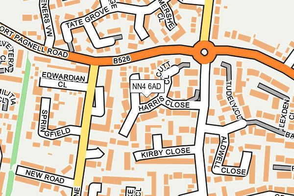 NN4 6AD map - OS OpenMap – Local (Ordnance Survey)