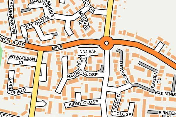 NN4 6AE map - OS OpenMap – Local (Ordnance Survey)