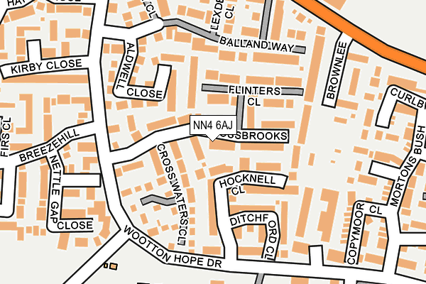 NN4 6AJ map - OS OpenMap – Local (Ordnance Survey)
