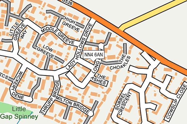 NN4 6AN map - OS OpenMap – Local (Ordnance Survey)