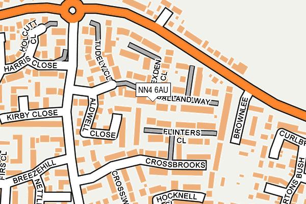 NN4 6AU map - OS OpenMap – Local (Ordnance Survey)