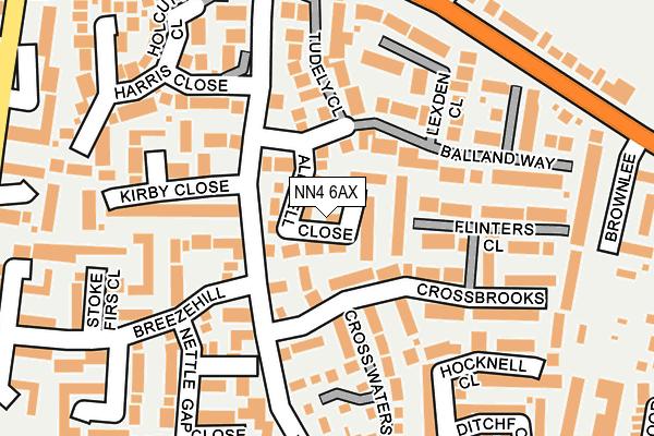 NN4 6AX map - OS OpenMap – Local (Ordnance Survey)