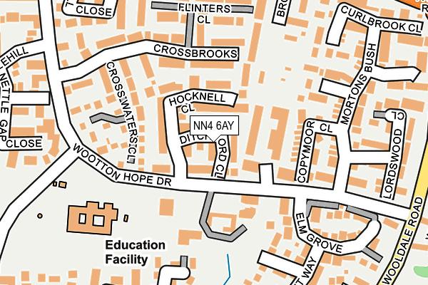 NN4 6AY map - OS OpenMap – Local (Ordnance Survey)