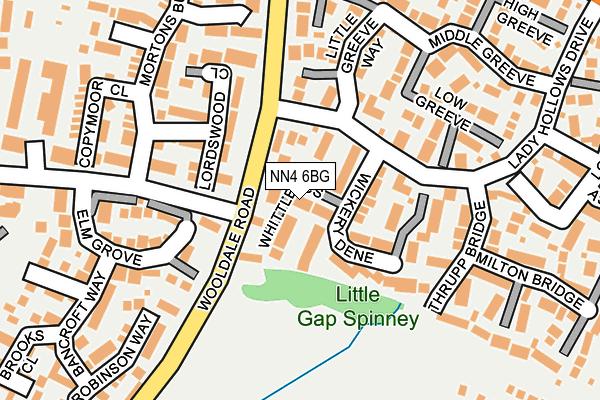 NN4 6BG map - OS OpenMap – Local (Ordnance Survey)