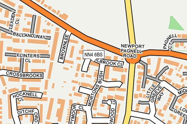 NN4 6BS map - OS OpenMap – Local (Ordnance Survey)