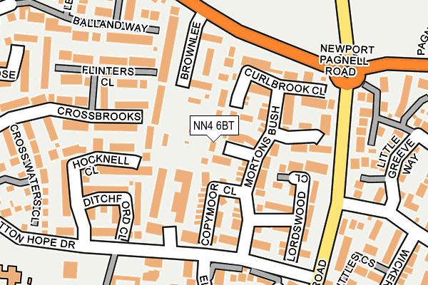 NN4 6BT map - OS OpenMap – Local (Ordnance Survey)