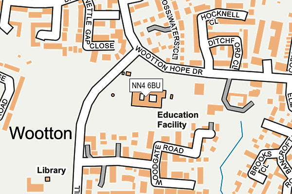 NN4 6BU map - OS OpenMap – Local (Ordnance Survey)