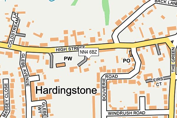 NN4 6BZ map - OS OpenMap – Local (Ordnance Survey)