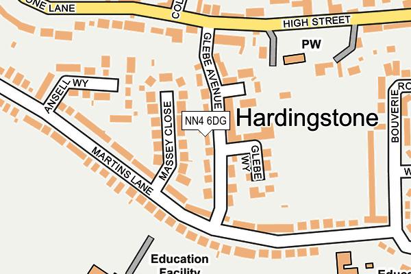 NN4 6DG map - OS OpenMap – Local (Ordnance Survey)