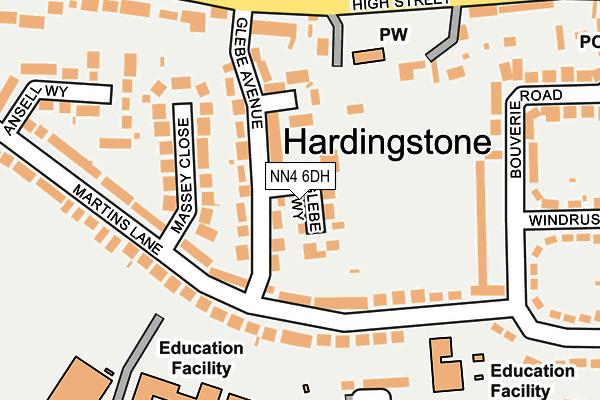 NN4 6DH map - OS OpenMap – Local (Ordnance Survey)