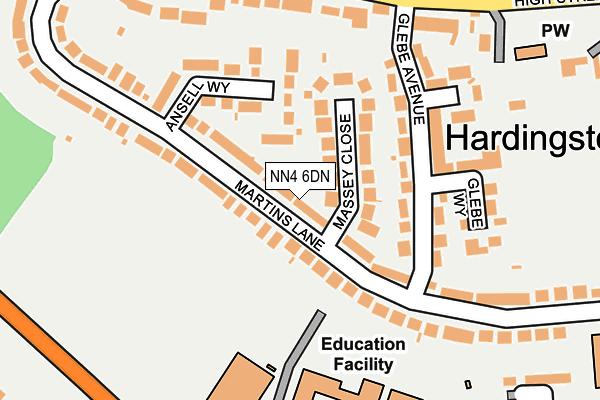 NN4 6DN map - OS OpenMap – Local (Ordnance Survey)