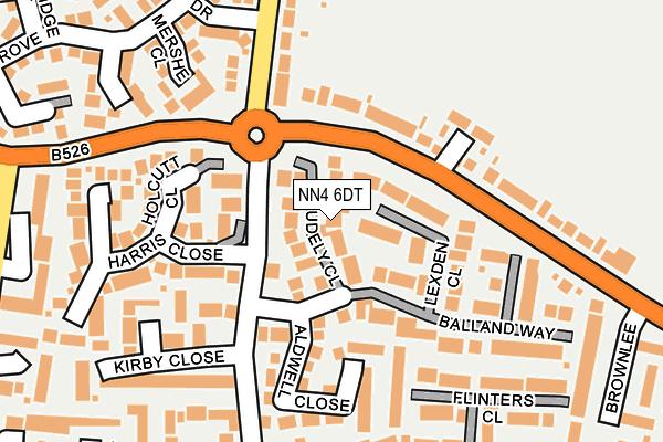 NN4 6DT map - OS OpenMap – Local (Ordnance Survey)