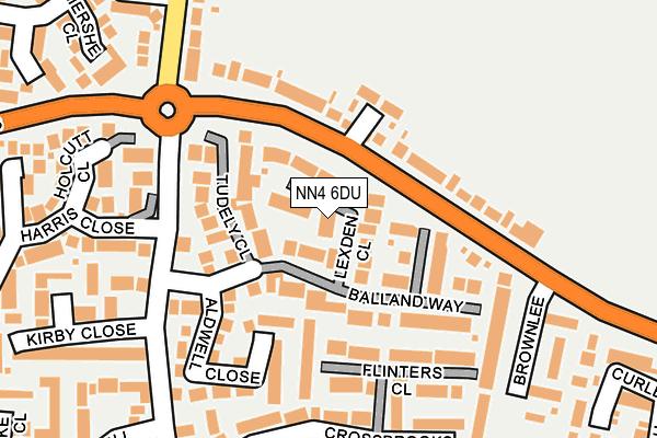 NN4 6DU map - OS OpenMap – Local (Ordnance Survey)