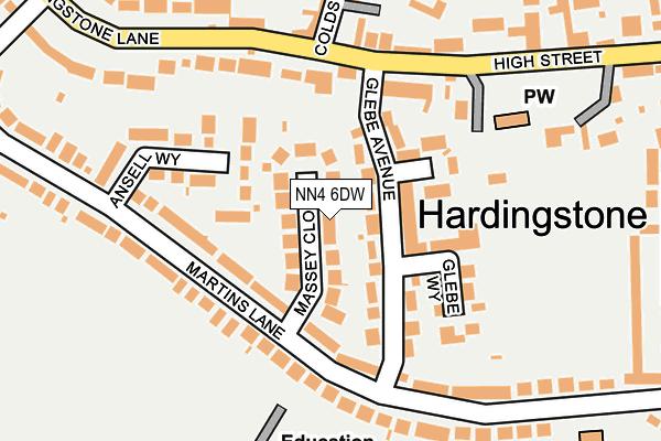 NN4 6DW map - OS OpenMap – Local (Ordnance Survey)