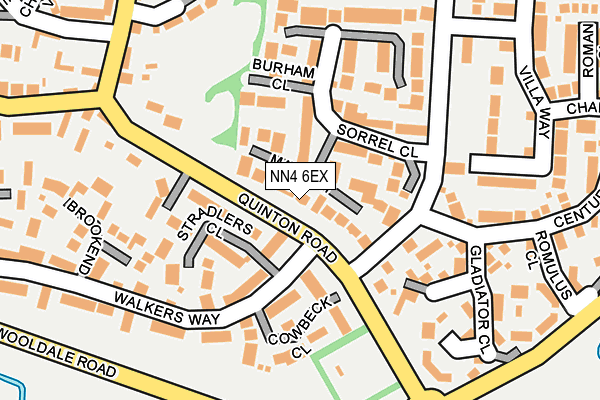 NN4 6EX map - OS OpenMap – Local (Ordnance Survey)