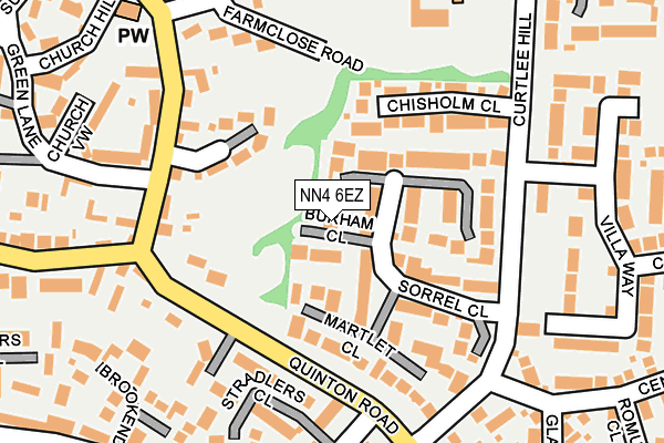 NN4 6EZ map - OS OpenMap – Local (Ordnance Survey)