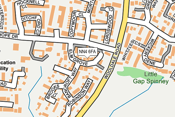 NN4 6FA map - OS OpenMap – Local (Ordnance Survey)