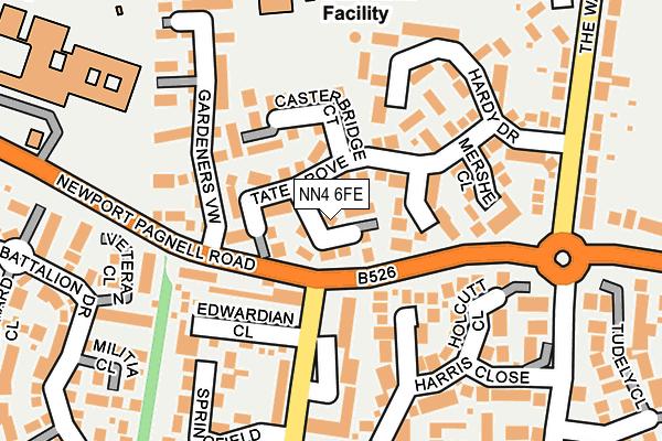 NN4 6FE map - OS OpenMap – Local (Ordnance Survey)