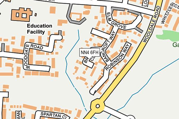 NN4 6FH map - OS OpenMap – Local (Ordnance Survey)
