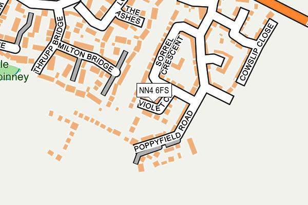 NN4 6FS map - OS OpenMap – Local (Ordnance Survey)