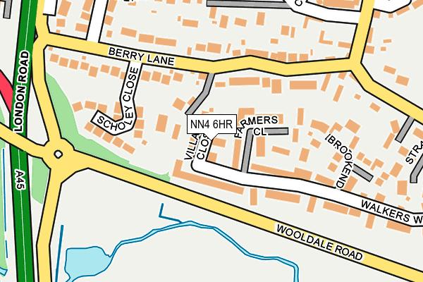 NN4 6HR map - OS OpenMap – Local (Ordnance Survey)