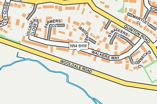 NN4 6HW map - OS OpenMap – Local (Ordnance Survey)