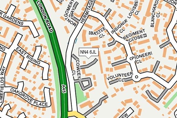 NN4 6JL map - OS OpenMap – Local (Ordnance Survey)