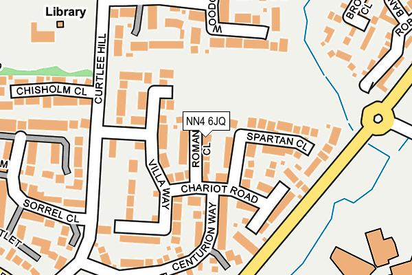 NN4 6JQ map - OS OpenMap – Local (Ordnance Survey)