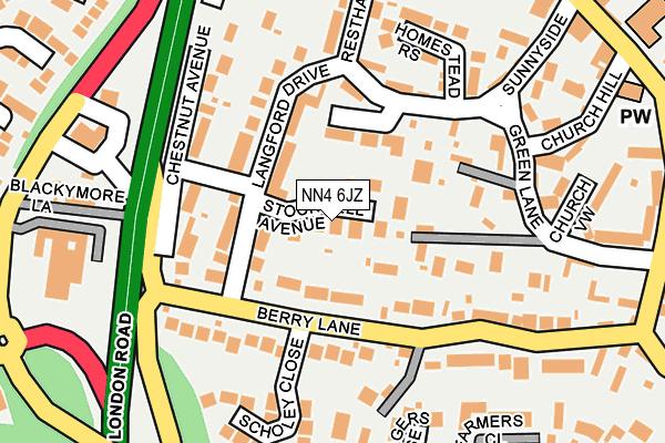 NN4 6JZ map - OS OpenMap – Local (Ordnance Survey)