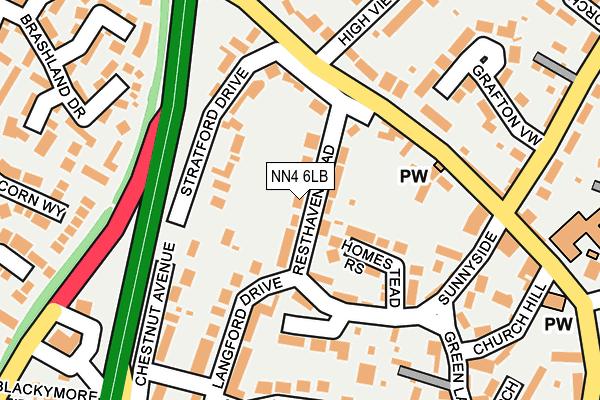 NN4 6LB map - OS OpenMap – Local (Ordnance Survey)