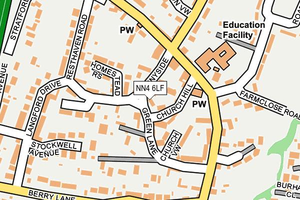 NN4 6LF map - OS OpenMap – Local (Ordnance Survey)
