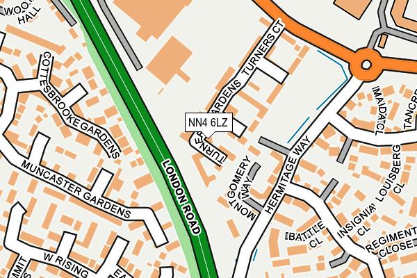 NN4 6LZ map - OS OpenMap – Local (Ordnance Survey)