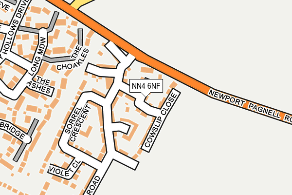 NN4 6NF map - OS OpenMap – Local (Ordnance Survey)