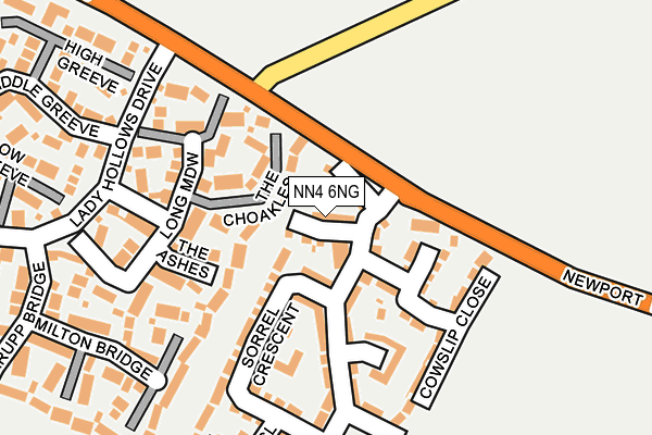 NN4 6NG map - OS OpenMap – Local (Ordnance Survey)