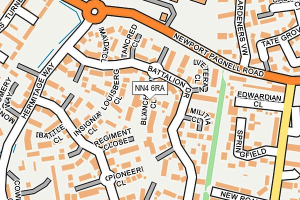 NN4 6RA map - OS OpenMap – Local (Ordnance Survey)