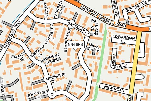 NN4 6RB map - OS OpenMap – Local (Ordnance Survey)