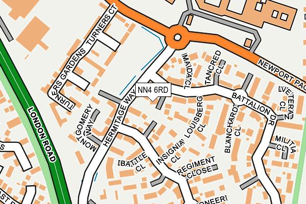 NN4 6RD map - OS OpenMap – Local (Ordnance Survey)