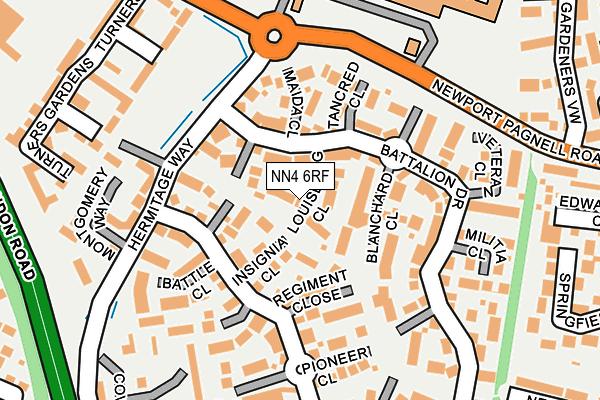 NN4 6RF map - OS OpenMap – Local (Ordnance Survey)