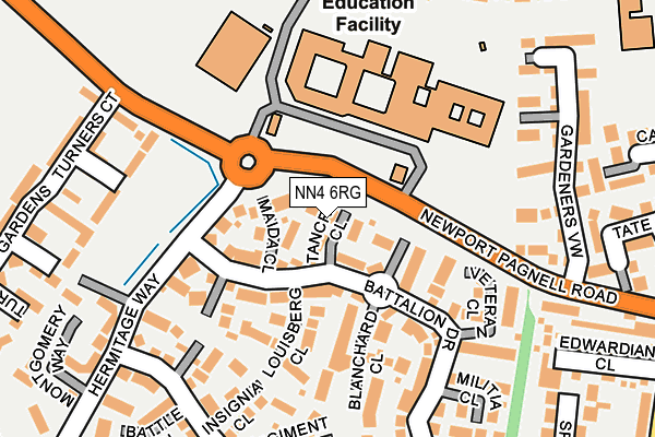 NN4 6RG map - OS OpenMap – Local (Ordnance Survey)