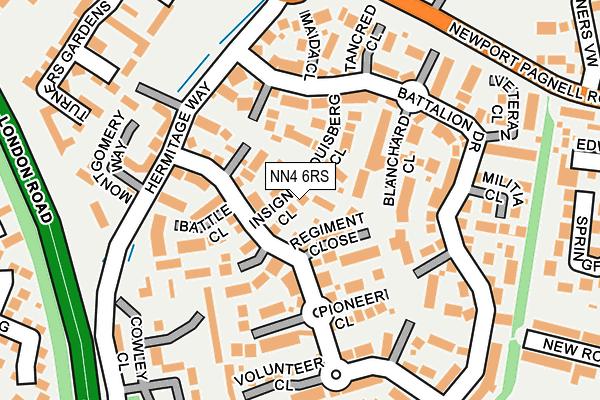 NN4 6RS map - OS OpenMap – Local (Ordnance Survey)