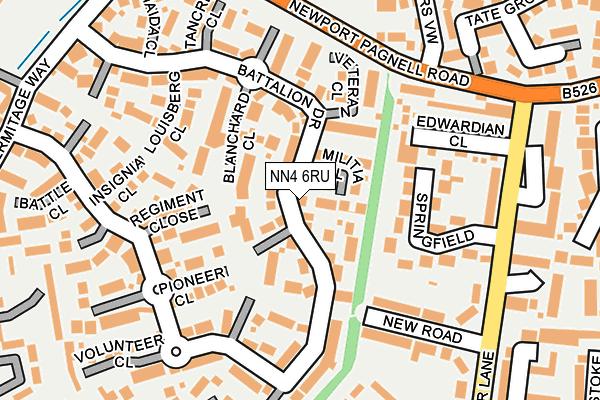 NN4 6RU map - OS OpenMap – Local (Ordnance Survey)