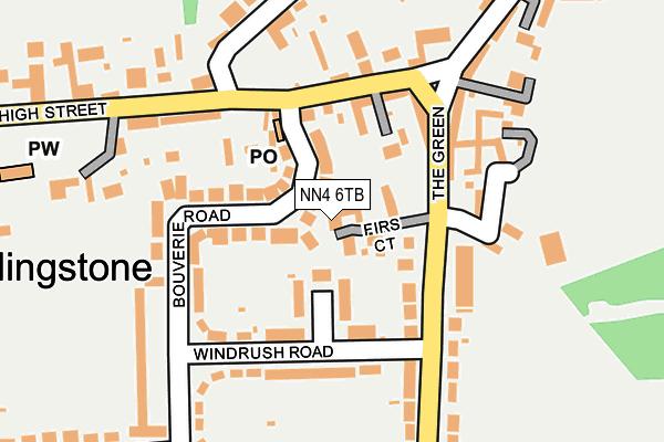 NN4 6TB map - OS OpenMap – Local (Ordnance Survey)