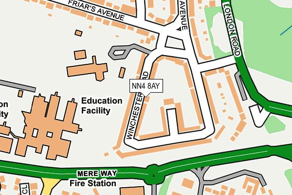 NN4 8AY map - OS OpenMap – Local (Ordnance Survey)