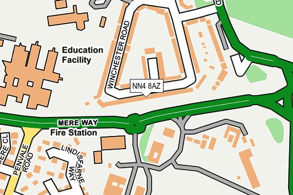 NN4 8AZ map - OS OpenMap – Local (Ordnance Survey)